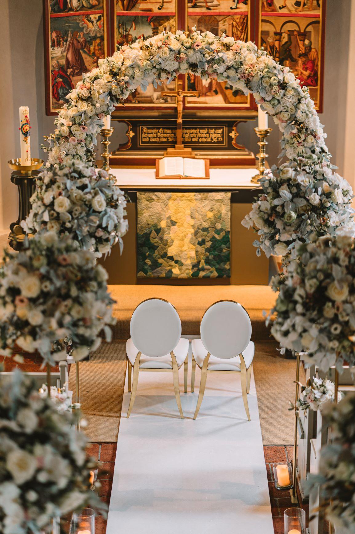 Kirche Hochzeit Luxus Deko Berlin