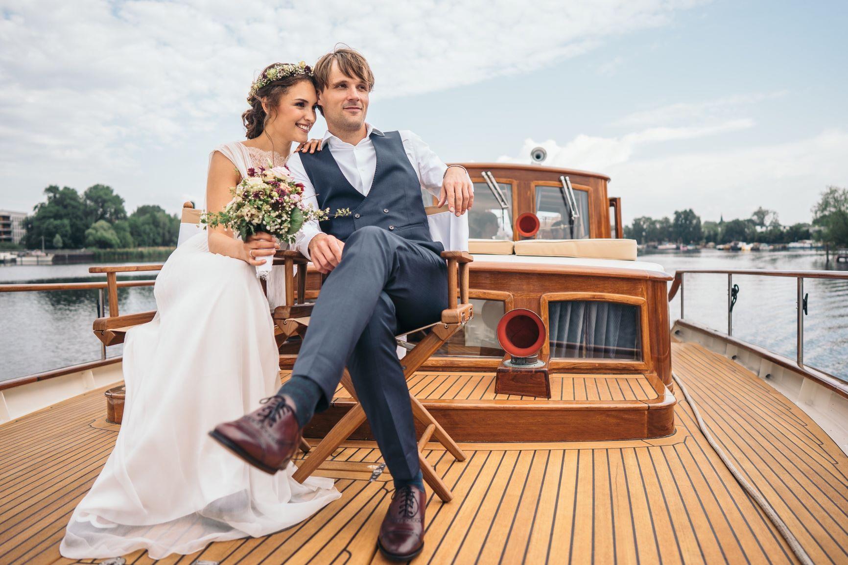 Fitzgerald Brautpaar Schiff Hochzeit Berlin